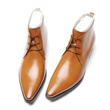 Sipriks موضة جلد طبيعي الأمريكية حذاء برقبة للعمل الرجال الرسمي ديربي أحذية أشار تو الإنجليزية فستان أحذية أنيقة الزفاف الأحذية(China)