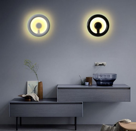Volante creativo lámpara de pared moderna de la luz led para ...