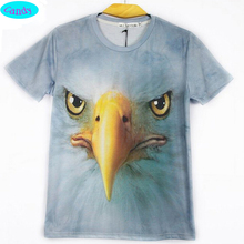 2016 new style animal t-shirt teens girls personality street style eagle printed 3D tshirt children's design tops CT10