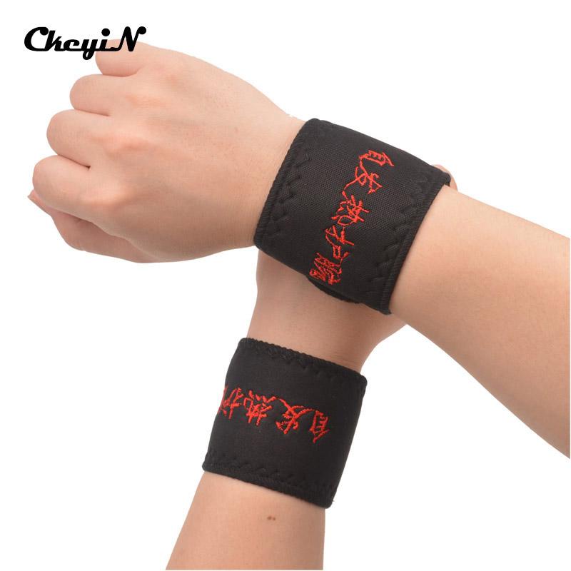 New Adjustable Self-heating Tourmaline Magnet Wrist Support Straps Wraps Sports Wristband Warm Wrist Band For Gym LCPJ(China (Mainland))