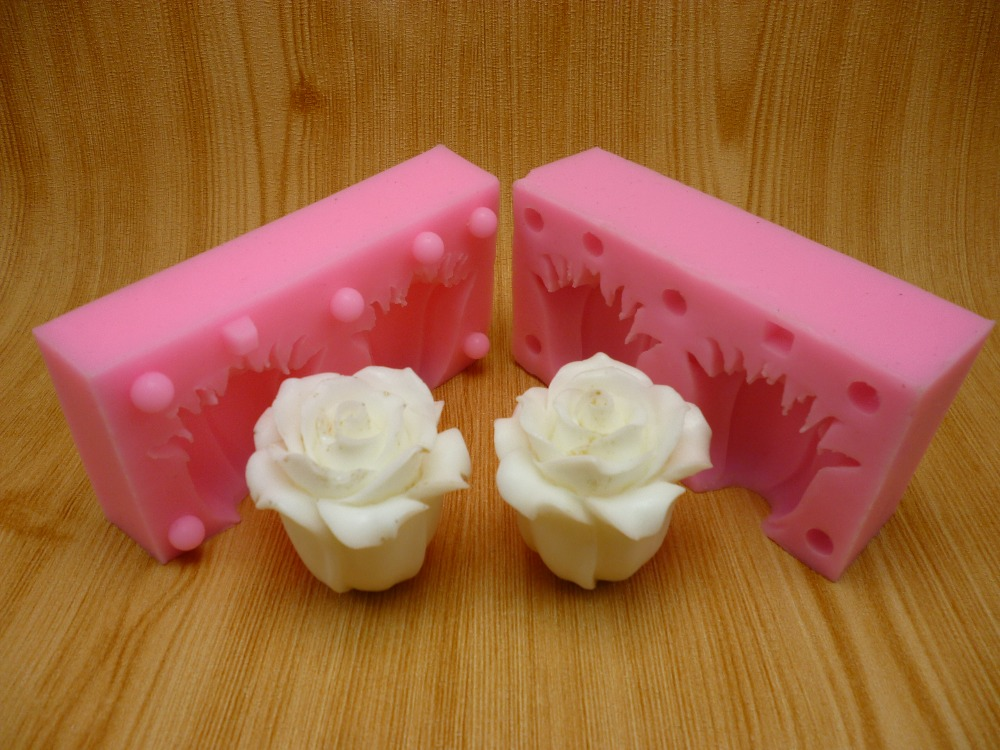 Fondant Cake Silicone Molds : Aliexpress.com : Buy 3D rose fondant cake molds, silicone ...