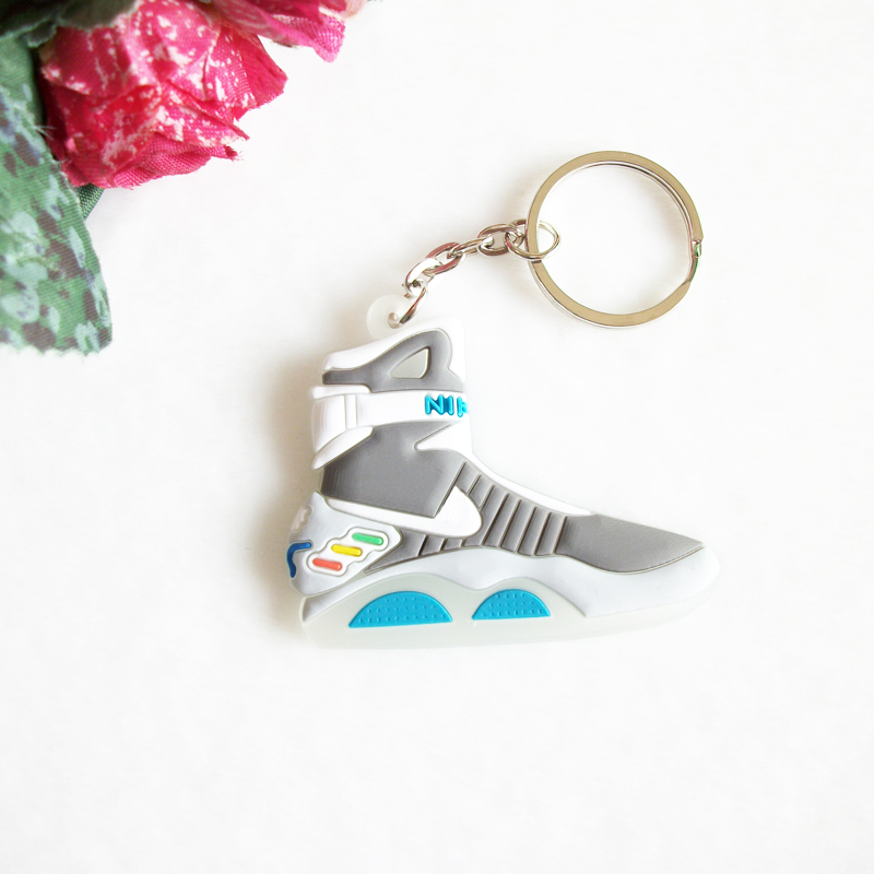 Back To The Future II Glow In The Dark Air Mag Key Chain For Woman Sneaker Keychain Key Chain Key Ring Key Holder