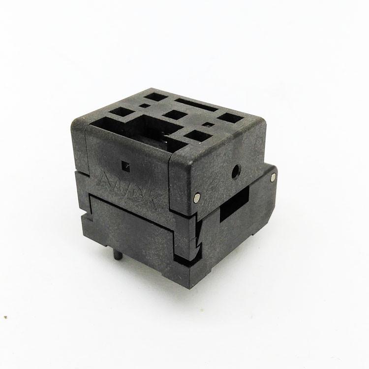 QFN44 MLF44 WLCSP44 Burn in Socket Pin Pitch 0.4mm IC Body Size 6*6mm Clamshell Flash Test Socket Adapter QFN44 burn-in socket