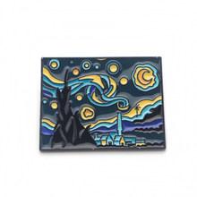 P3388 Dongmanli di Van Gogh Notte Stellata Dello Smalto Spilli e Spille per Le Donne Degli Uomini del Risvolto Spille zaino borse Cappello distintivo Regali(China)