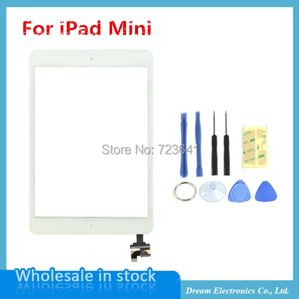 New High Quality Touch Screen Digitizer + Home Button + IC Connector Assembly for iPad mini iPad mini2 Black White Free shipping(China (Mainland))