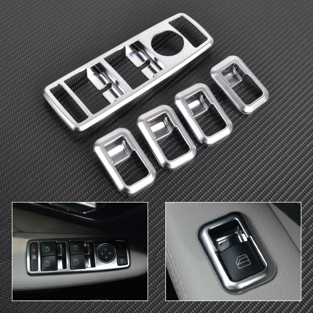 New car interior matt chrome door window switch panel for Mercedes benz glk350 accessories