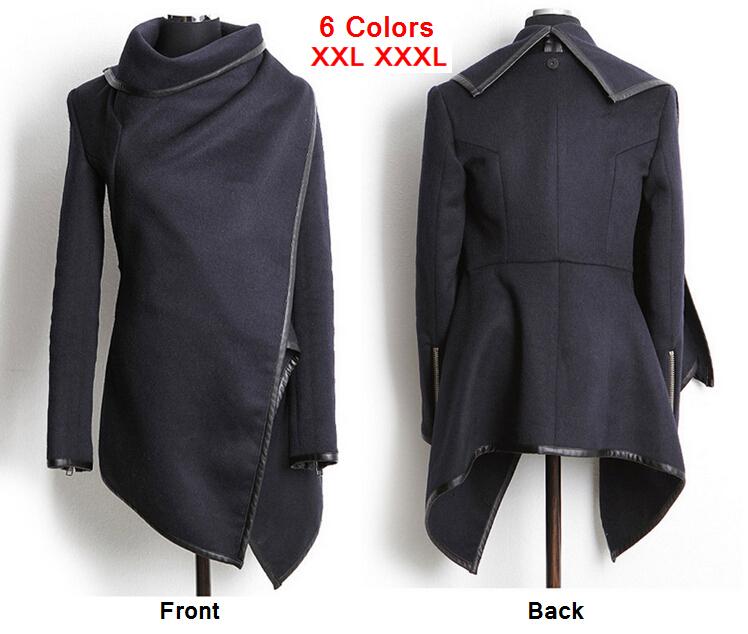 2015 Winter Autumn Women Wool Coat Long Cashmere Overcoats Fashion Trench Desigual Jackets Stars Love Manteau Abrigos Mujer E3 - Eye 2 CO., Ltd store