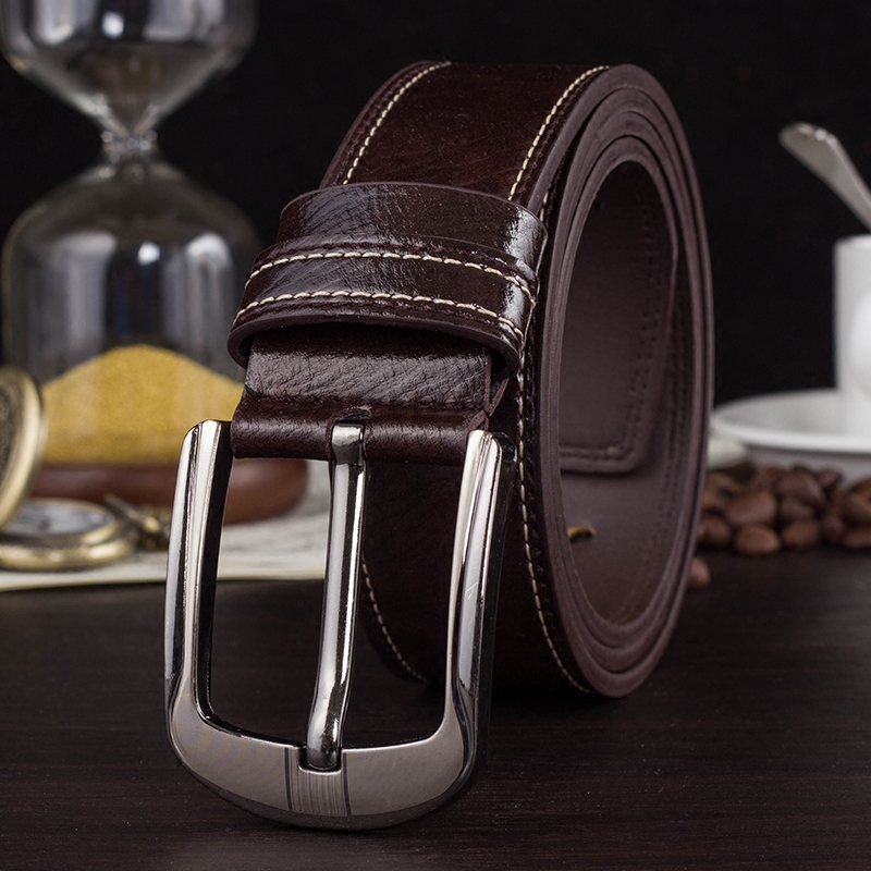 2016 mens luxury belt Leather men's belts Buckle Business belts men high quality free shipping(China (Mainland))