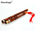 Bamboo Flute Professional Red line Woodwind dizi Musical instruments C D E F G Key Chinese