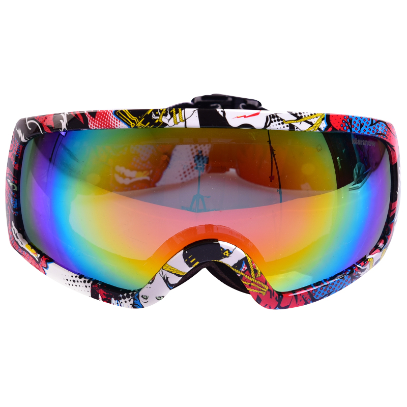 polarized snowboard goggles 0tnw  Marsnow New Double Layer Polarized Anti Fog Unisex Ski Goggles Snowboard  Skiing Real REVO Men Snow