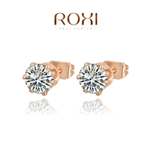 OBABY Jewelry ROXI Free Shipping Simple Style Gold Plated Stud Earring Pure Handmade Elegant Fashion Earring Women Party Wedding