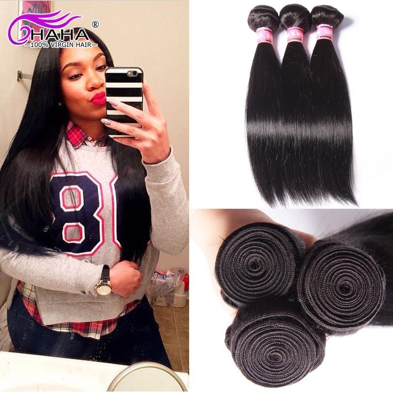 7A Peruvian Virgin Hair Straight 3Pcs Lot Rosa Hair Products Remy Human Hair Unprocessed Virgin Peruvian Hair Weave Bundles<br>