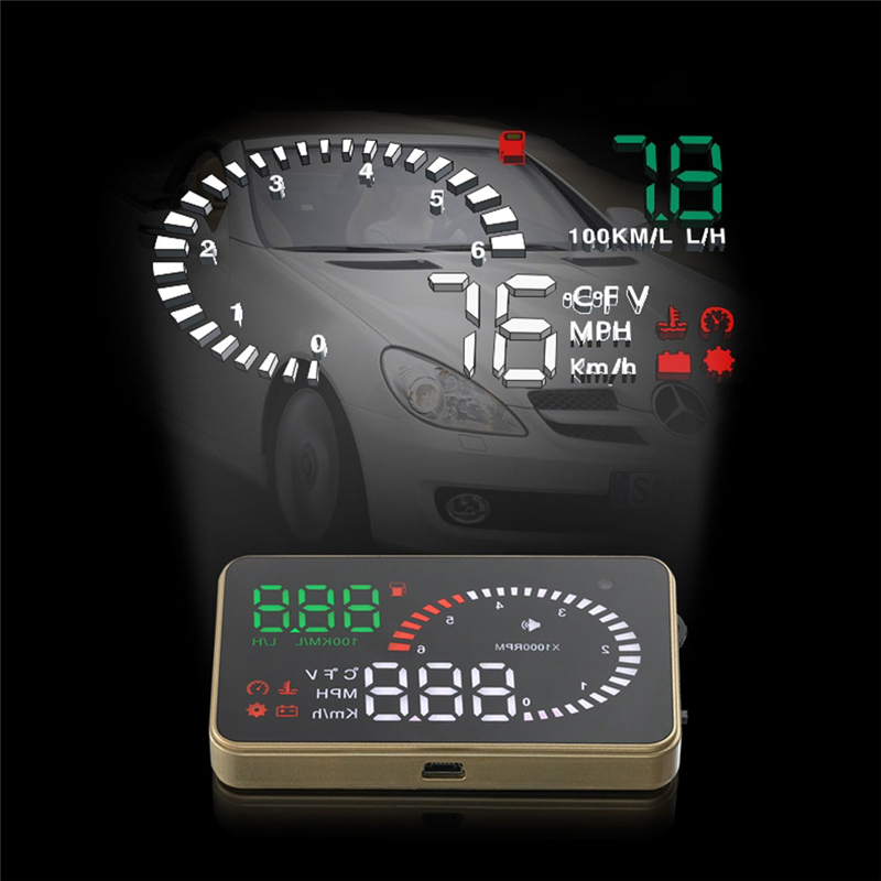 X6 Car HUD Head Up Display Projector 3 Inch OBDII Interface MPH Fuel Consumption Speed Warning Monitoring Alarm System(China (Mainland))