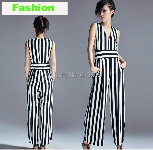 Macacao Feminino 2015 New Summer Autumn Wide Leg Slim Women Jumpsuits Elegant Sleeveless Rompers Female Jumpsuit - Beauty Witness store