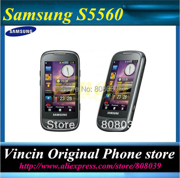 Original samsung S5560 Marvel GPS WIFI 5MP 3.0'' TouchScreen Unlocked Cell Phone Refurbished(China (Mainland))