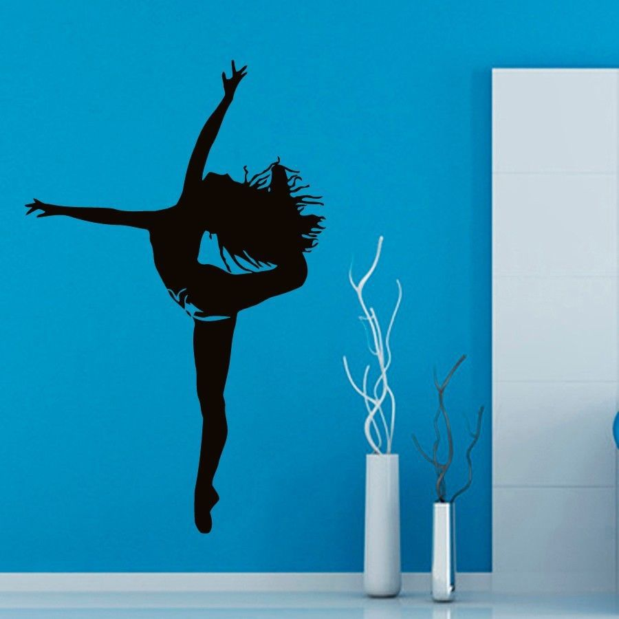 Ballet Sticker Dance Decal Danse Posters Skiing Vinyl Wall Decals Parede Decor Mural 19 Color Choose Ballet Sticker(China (Mainland))
