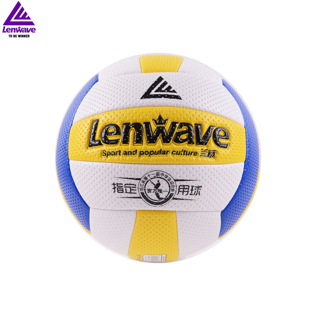 2016 lenwave Outdoor Sand Beach Volleyball Size 5 Game Thickened Soft PU Leather Ball(China (Mainland))