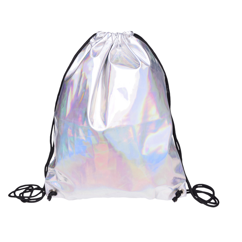 Leather backpack women Solid Silver drawstring bag Travel mini backpack women mochila feminina mochilas backpacks sac a dos bags