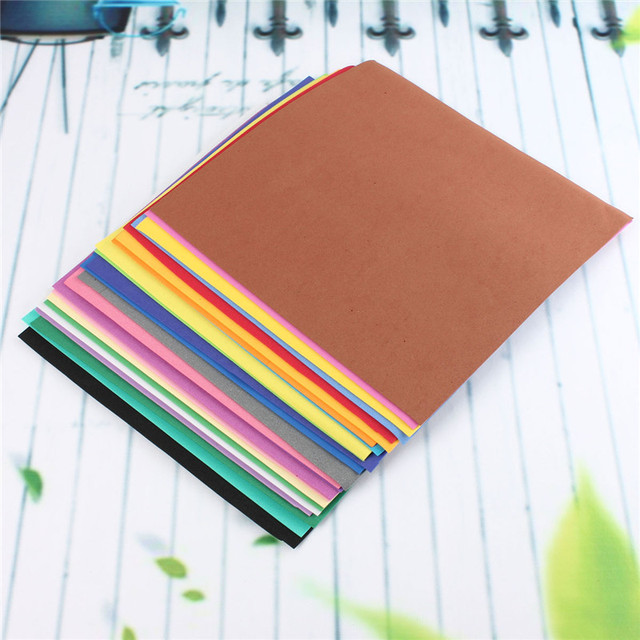 Multicolor Sponge Foam Paper (24pcs/lot)