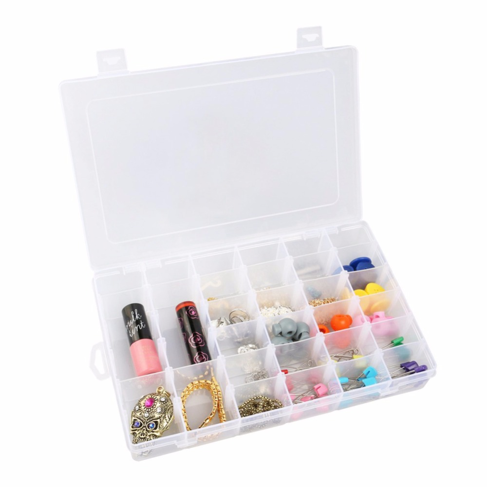 Nail Art 36 Empty Compartment Plastic Storage Box Adjustable Earring Jewelry Bin Case Container Big Sewing AIA00342-35 - Shenzhen BH Technology Co., Ltd store