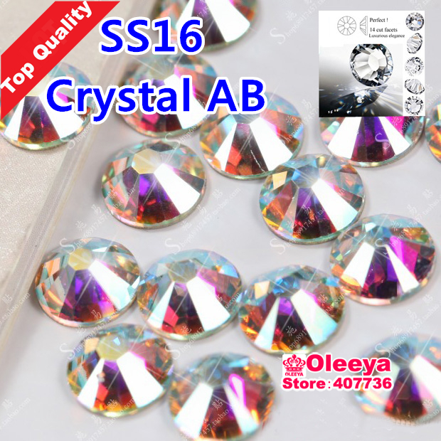 Excellent Quality Best Grade SS16 Hot Fix Rhinestone Clear AB Flat Back Iron On Hotfix Crystal Strass For Transfer Motif Y0624(China (Mainland))