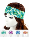 NEW paisley pattern stretchy headband Women Girl Hair Accessories ElasticTurban hair band SH 54