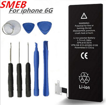Buy New 100% Original SMEB Phone Battery iphone 6G Real Capacity 1810 mAh Machine Tools Mobile Batteries 0 Cycle for $7.89 in AliExpress store