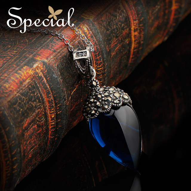 Special New Fashion 925-Sterling-Silver Maxi Necklaces Vintage Pendants Necklaces Gift2 2017 Gifts for Women XL141187