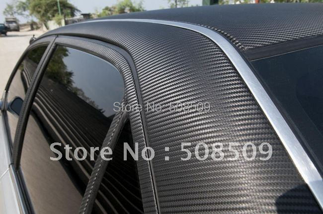 Wholesale 3D carbon fiber mat carbon vinyl carbon fibre manufacturers 1.52M*30M Guaranteed 100% free shipping 152cfvwi30m(China (Mainland))