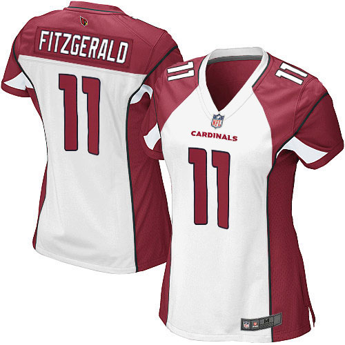 Women's Arizona #11 Larry Fitzgerald Elite Football Jersey - White(China (Mainland))