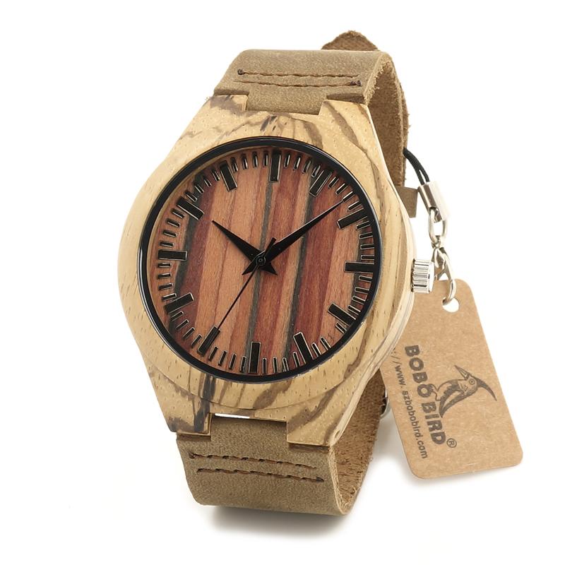Bobo Bird Brand Designer White Bamboo Wooden Watch Cartoon Watches Cool Ectopic Design Lug Wristwatches for men women<br><br>Aliexpress