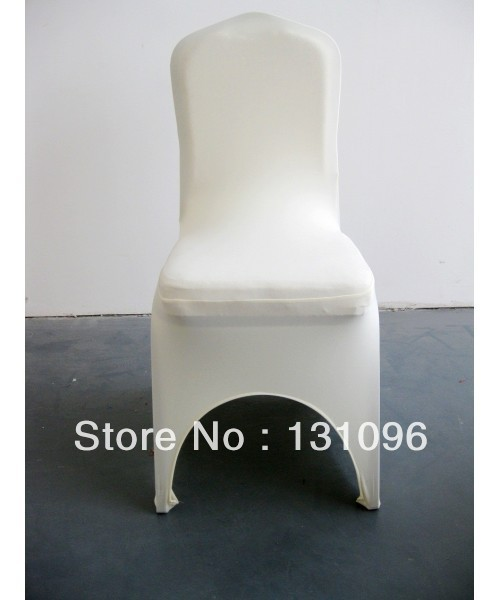 100pcs Top Quality Ivory Lycra Chair Cover Arch Front for Wedding Events &Party Decoration(China (Mainland))