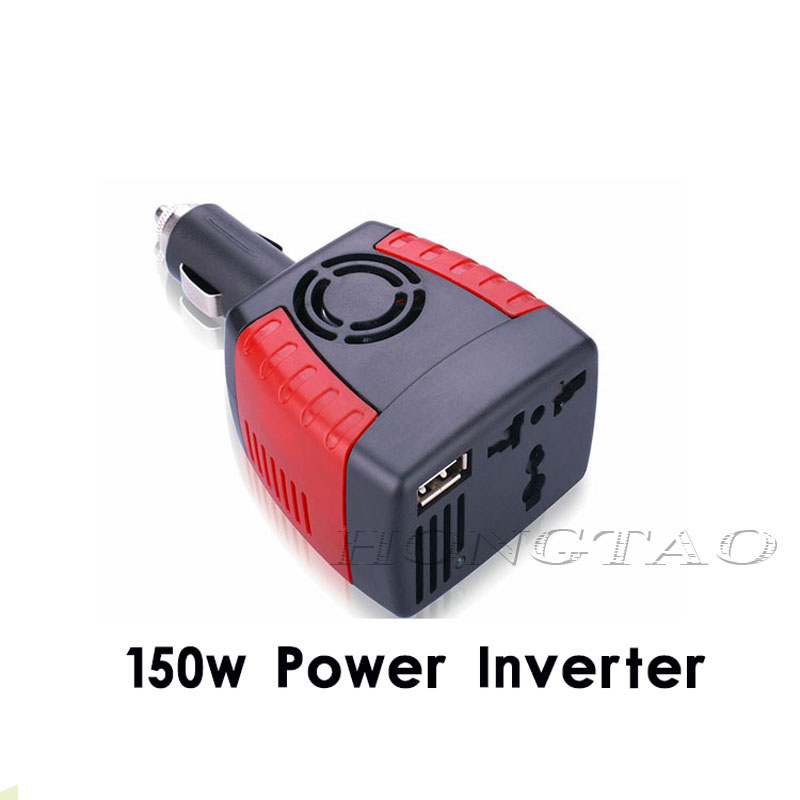 New cigarette lighter Power Supply 150W 12V DC to 220V AC Car Power Inverter Adapter with USB Charger Port hot selling(China (Mainland))