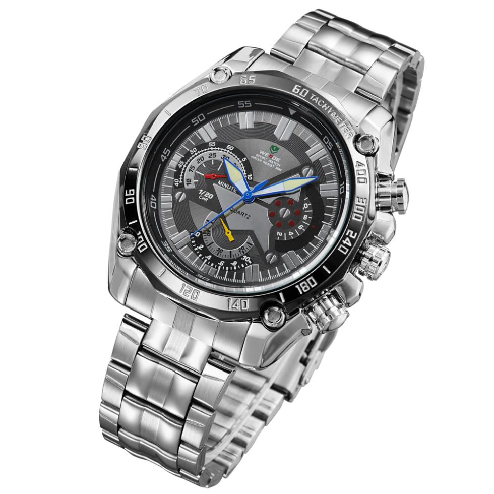!WEIDE Men Luxury Brand Sport Watches Japan Quartz Movement Military Diver 3 ATM Water Resistant Relogio Watch - The global digital tesco store