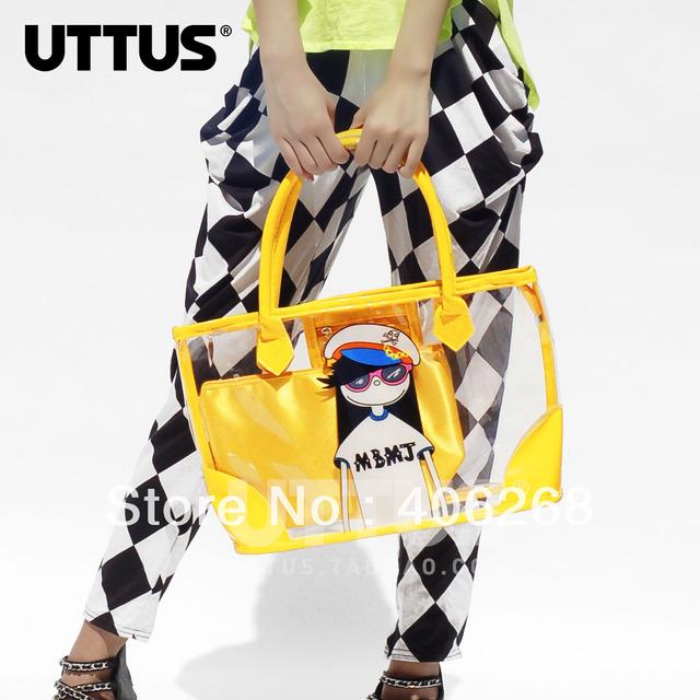 free shipping fashion transparent  bagplastic  beach bag ladies' handbag shoulder bag