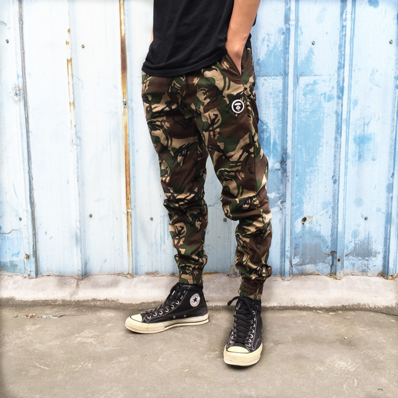Bape Pants die -beam leg Men Camouflage Sweatpants Cargo Joggers Loose Casual Tracksuit Trousers Hip Hop  -  Jonly-YY store