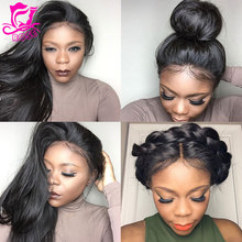 Best Full Lace Human Hair Wigs For Black Women Brazilian Full Lace Front Wigs With Baby Hair Glueless Lace Front Human Hair Wigs(China (Mainland))