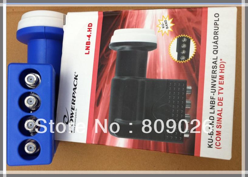 0.1dB Low Noise Ku Band Universal Quad LNBF Four Receivers Share One LNB Free Shipping(China (Mainland))