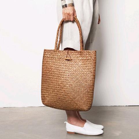 2016 New Beach Bag for Summer Big Straw Bags Handmade Woven Tote Women Travel Handbags Designer Vintage Shopping Hand Bags(China (Mainland))