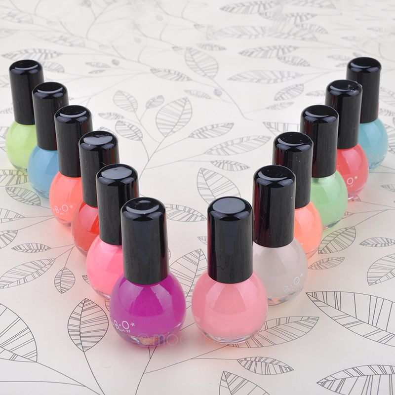 8ml Neon Fluorescent Non-toxic Nail Polish Nail Varnish Lacquer Paint Nail Art for Lady Girl ZMPJ498D(China (Mainland))