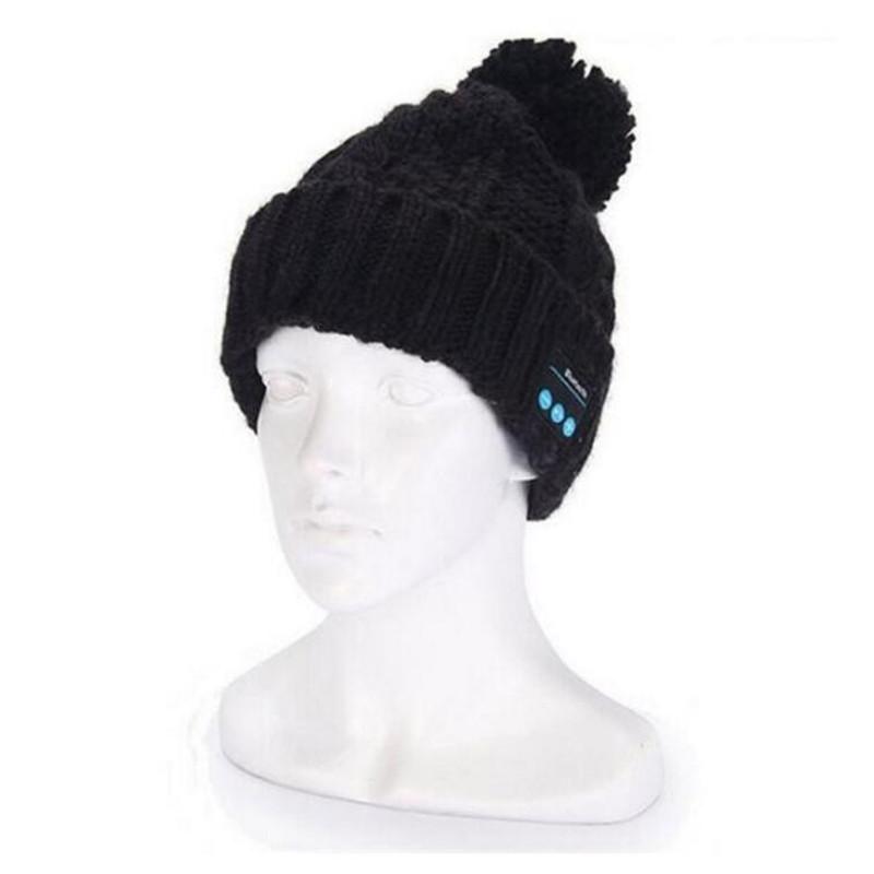 Insert TF/SD Slot Knit Beanie Smart Wireless Bluetooth V4.2 Cap Headset Headbands Headphone Speaker Mic Magic Sport Winter Hat