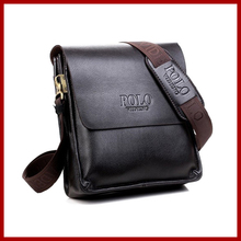 free shipping new 2014 hot sale men bags, men genuine leather messenger bag, high quality polo bag fashion men's travel bags