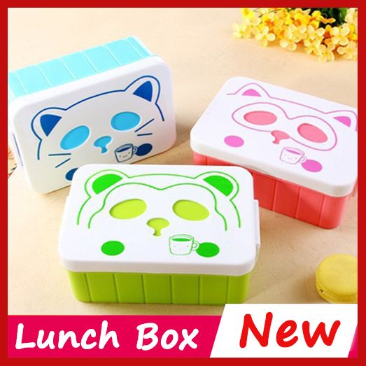 new panda pattern microwave bento lunch box for kids lunch box food container thermos bento box. Black Bedroom Furniture Sets. Home Design Ideas