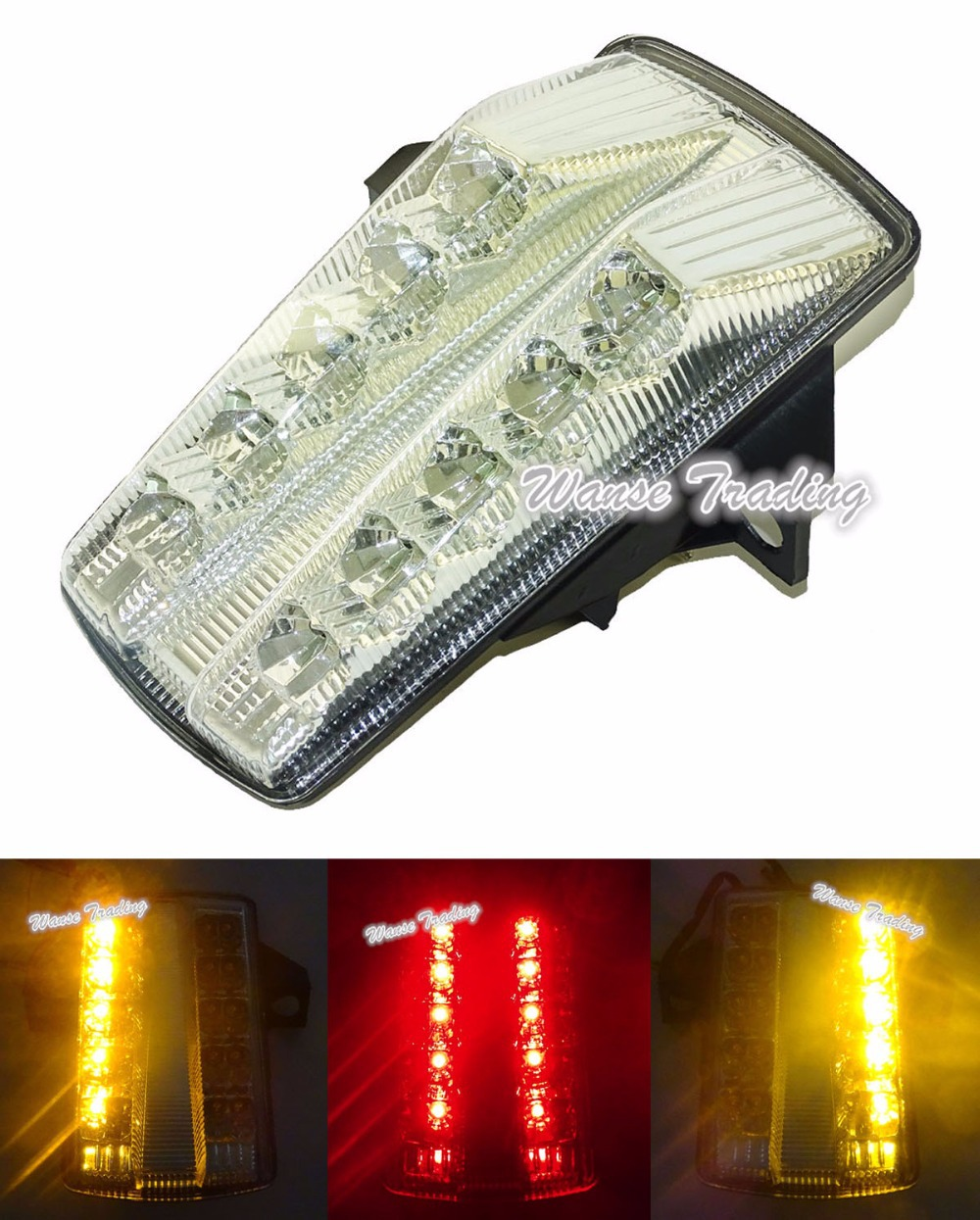 Chrome Led Tail Brake Turn Signals Integrated Light Clear For SUZUKI SV650 SV650A SV650F SV650S SV650SF SV 650 650S 650A 650F(China (Mainland))