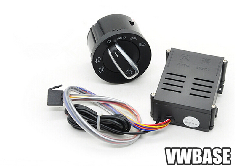 Auto Headlight Sensor+ Auto Switch control For VW Golf Jetta Bora MK4 Passat B5 Polo 1998-2004 With Instruction(China (Mainland))