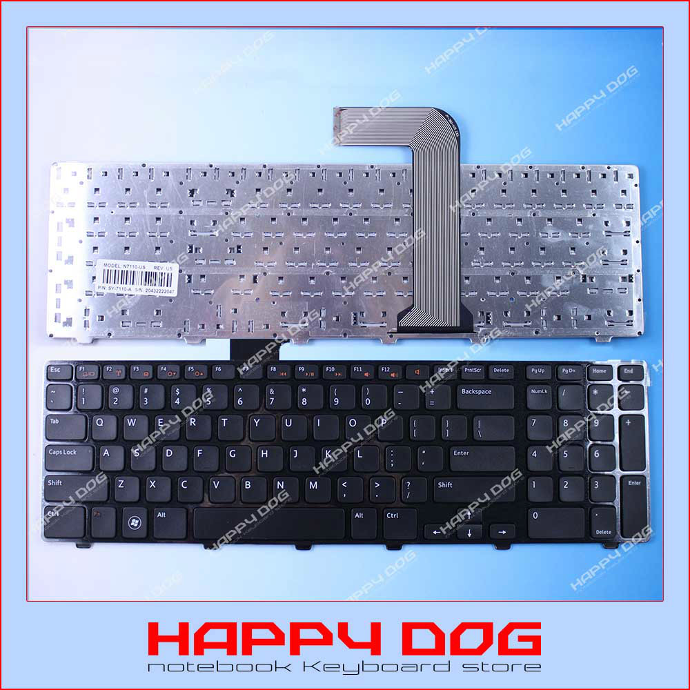 Brand New Russian Black US Laptop Keyboard Dell Inspiron 17R N7110 7110 L702X Vostro 3750 V3750 3721 5721 - Happy Dog store
