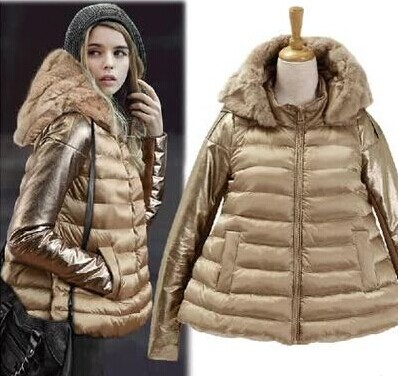 2014 winter free ship cotton-padded jacket outerwear plus size clothing design short wadded - NATIONAL FASHION LADY store