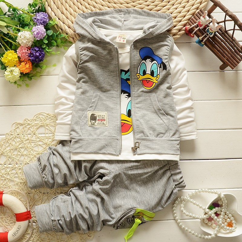 3PCS/0-6Years/Spring Autumn Clothes sets vest +long Shirt+pants Baby Boys Clothes For Kids Designer Childrens Clothing Set(China (Mainland))