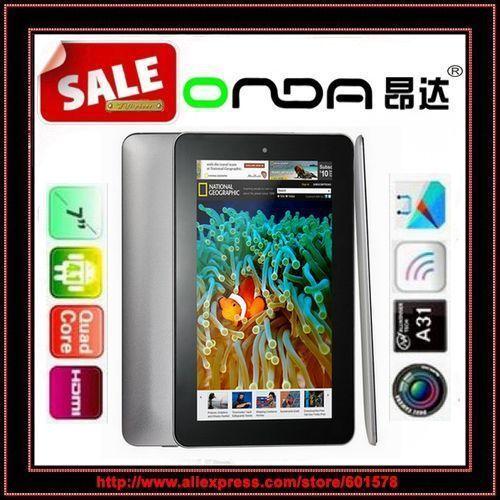 "7"" onda v701s A31s quad core 512MB RAM 8GB ROM android 4.2 HDMI OTG Webcam onda mid tablet pc/Jessie(Hong Kong)"
