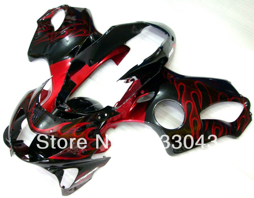 7gifts red flame fairing kits for honda cbr600 f4 1999. Black Bedroom Furniture Sets. Home Design Ideas